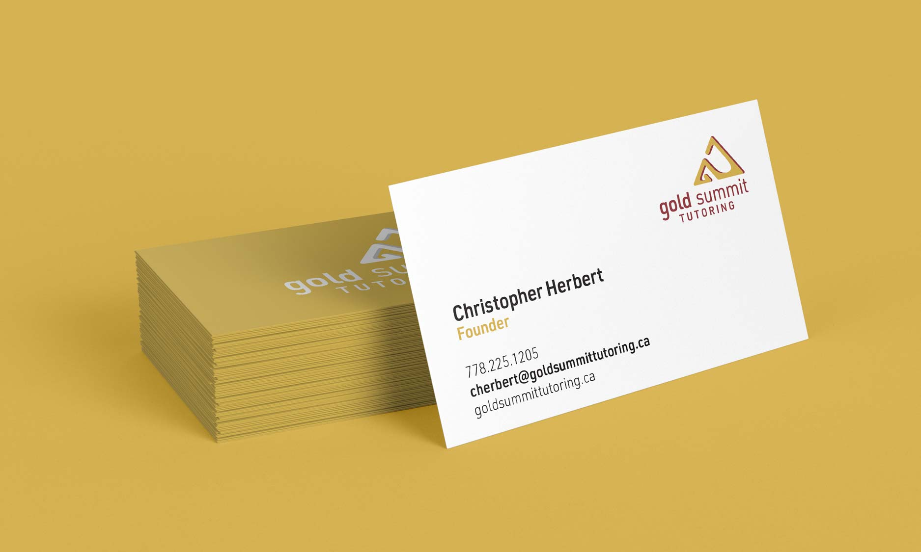 business card design for Gold summit tutoring by Alina Demidova