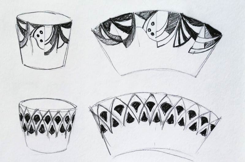 sketches for package design