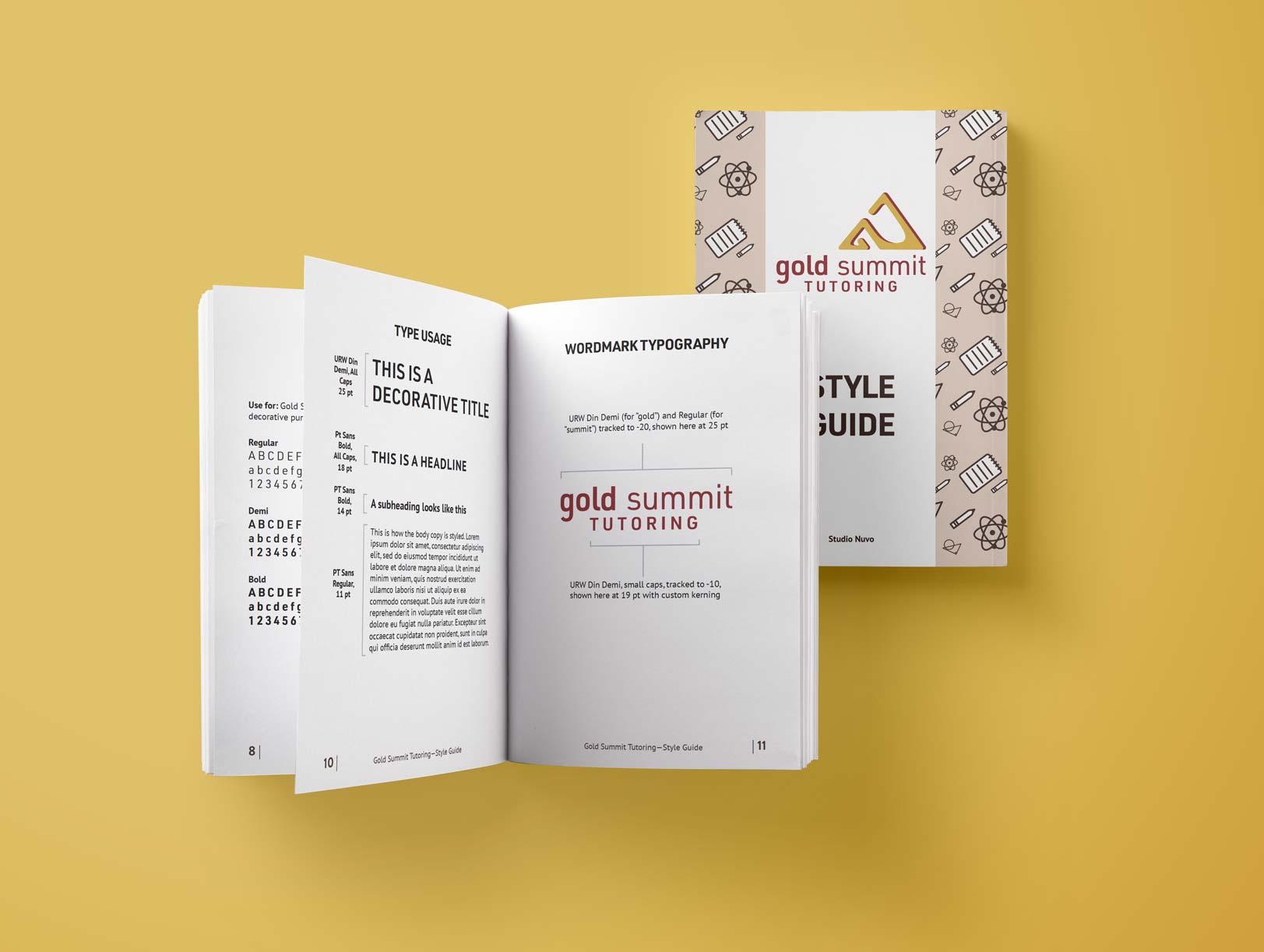 Style guide Gold Summit Tutoring by Alina Demidova