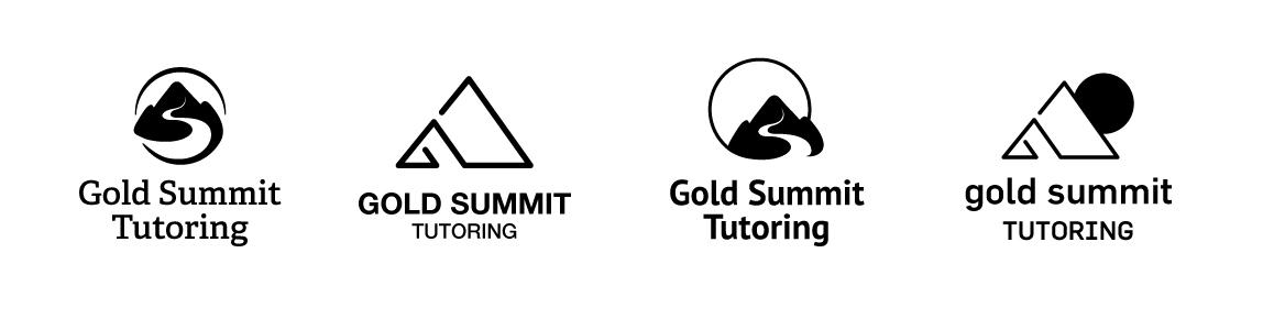 Gold summit tutoring logo by Alina Demidova
