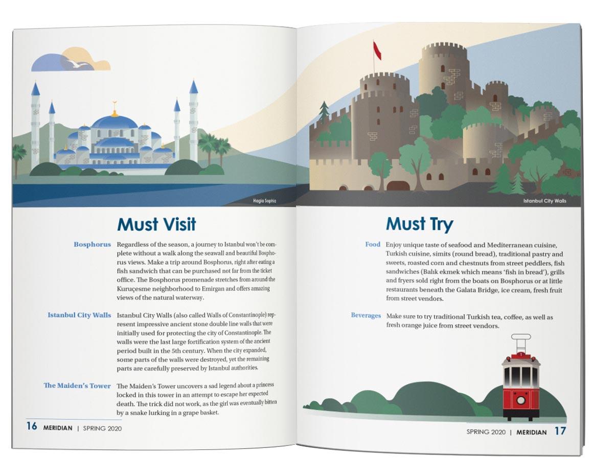 Magazine design, graphic design