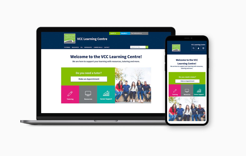 Vancouver Community College Learning Centre web design Alina Demidova