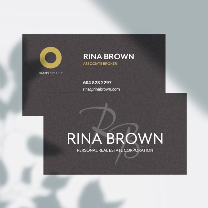 logo and business card design in Vancouver