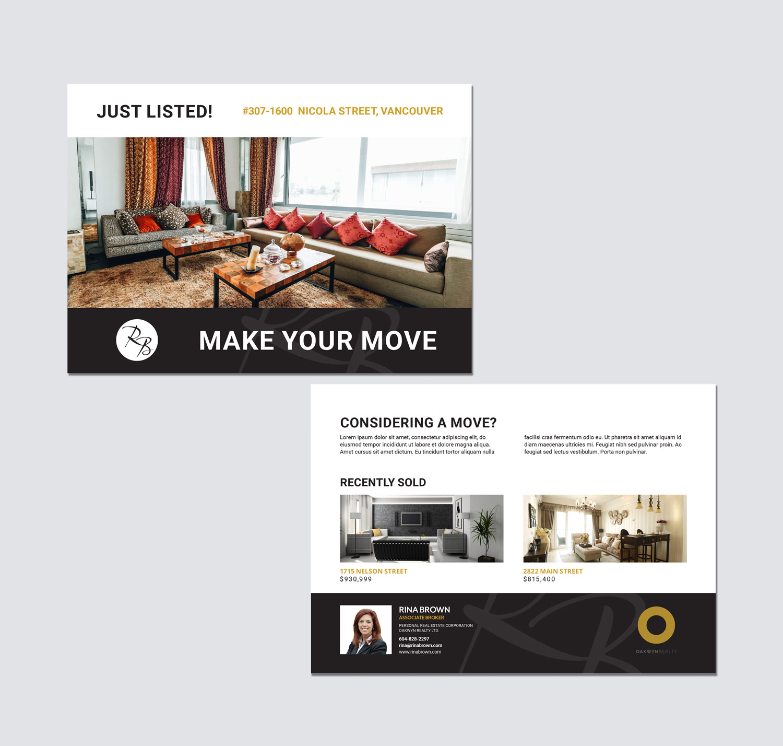 logo and postcard design for real estate agents