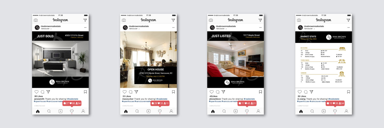 social media posts design for real estate agents