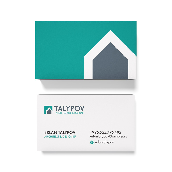 business card design for a construction company