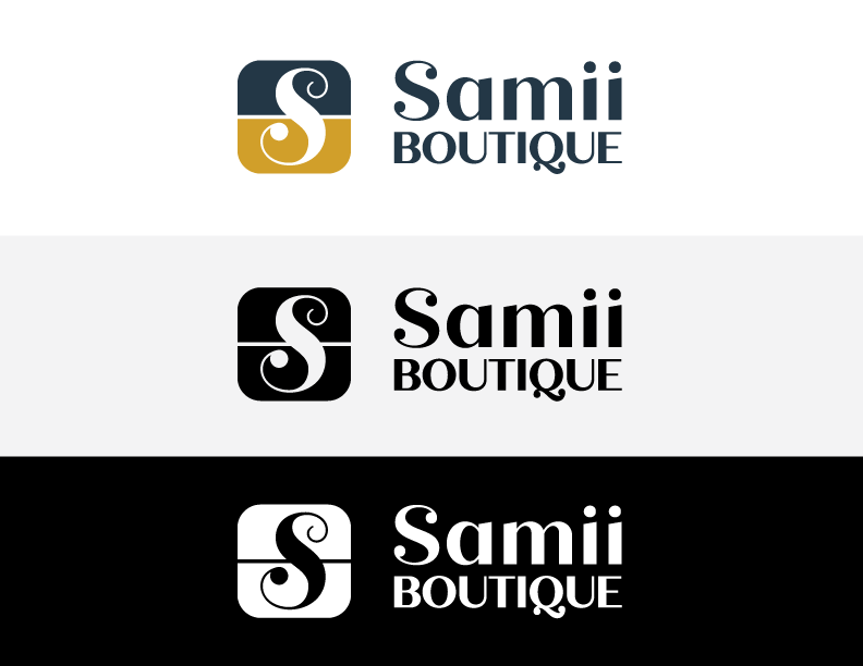 three logo formats for a boutique in Canada